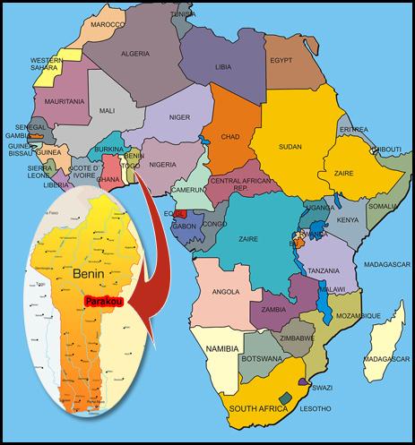 West Africa Location Located in West Africa on